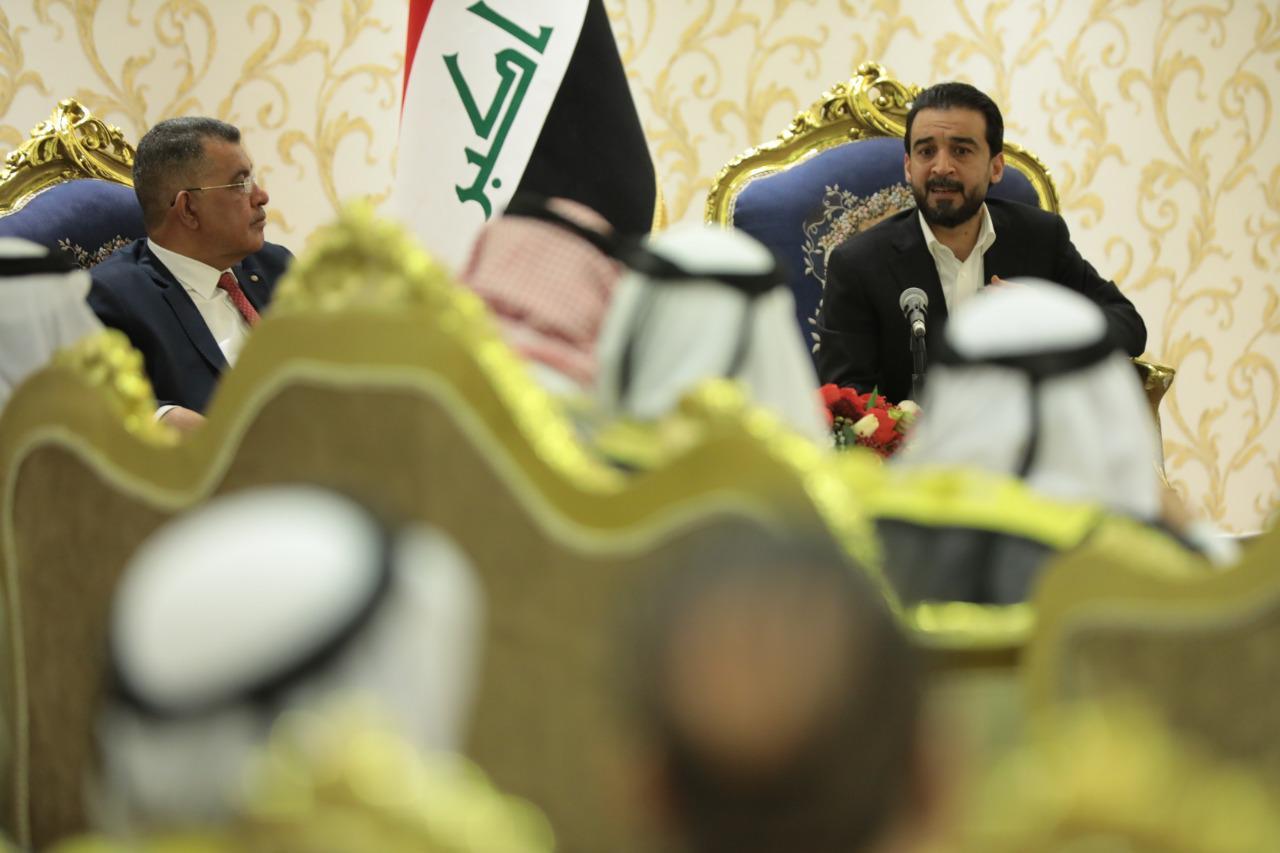 الحلبوسي يبحث مع شيوخ ووجهاء أبو غريب تعويضات المتضررين من العمليات الإرهابية