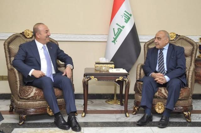 عبد المهدي يستقبل وزير الخارجية التركي