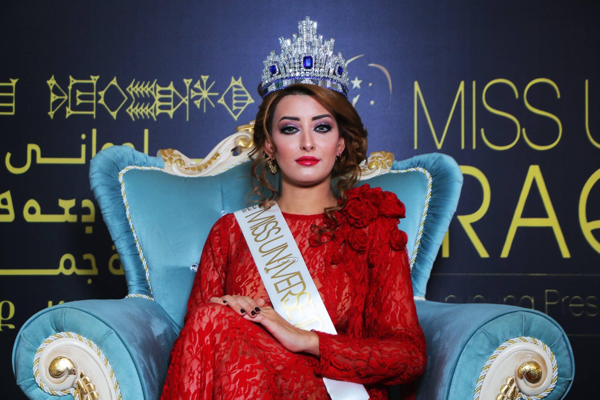 ملكة جمال العراق تشعر بخيبة امل من مسؤولي بلدها