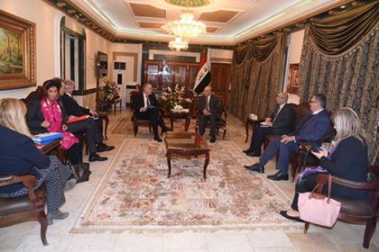الاتحاد الاوربي يبدي استعداده لدعم العراق في إعادة الاعمار ودعم جهود اعادة النازحين