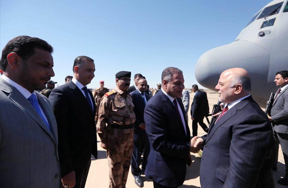 رئيس الوزراء يجتمع بحكومة صلاح الدين وقياداتها الامنية للاطلاع على واقعها