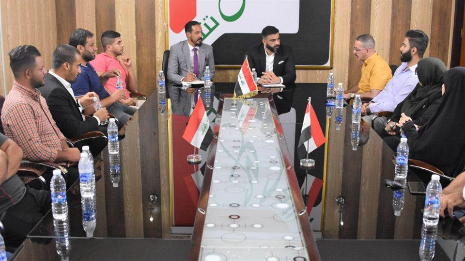الكربولي يلتقي وفوداً من شباب وعشائر بغداد
