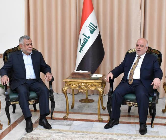Abadi discusses with Amiri the latest developments in the political situation in Iraq Image