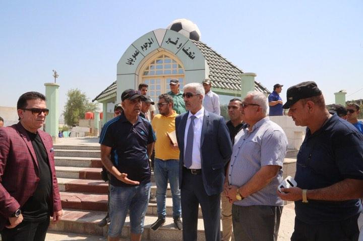 وزير الشباب والرياضة يتفقد حملة تنظيف قبر عمو بابا ويوجه باعادة اعماره