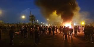 """قبل قليل ..  استشهاد متظاهر بالقرب من """"سريع محمد القاسم"""" وسط بغداد"""