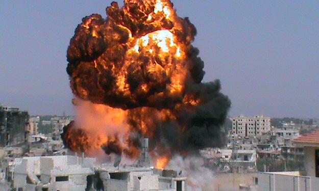 انفجارات تهز دمشق وسوريا توجه أصابع الاتهام لاسرائيل