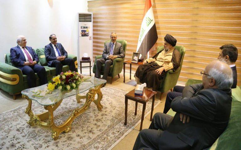 لقاء يجمع زعيم التيار الصدري والاتحاد الكردستاني ؟؟