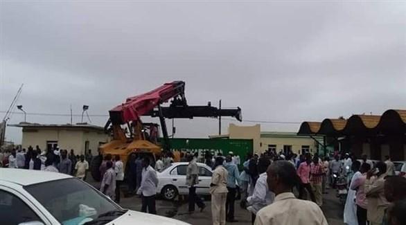إضراب لعمال بميناء الحاويات في السودان