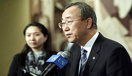 Ban Ki-moon called on Iraqis to be patient until they sort the voters