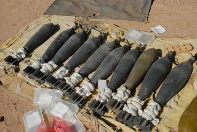 معالجة عبوات ناسفة والعثور على قنابر هاون في العاصمة بغداد