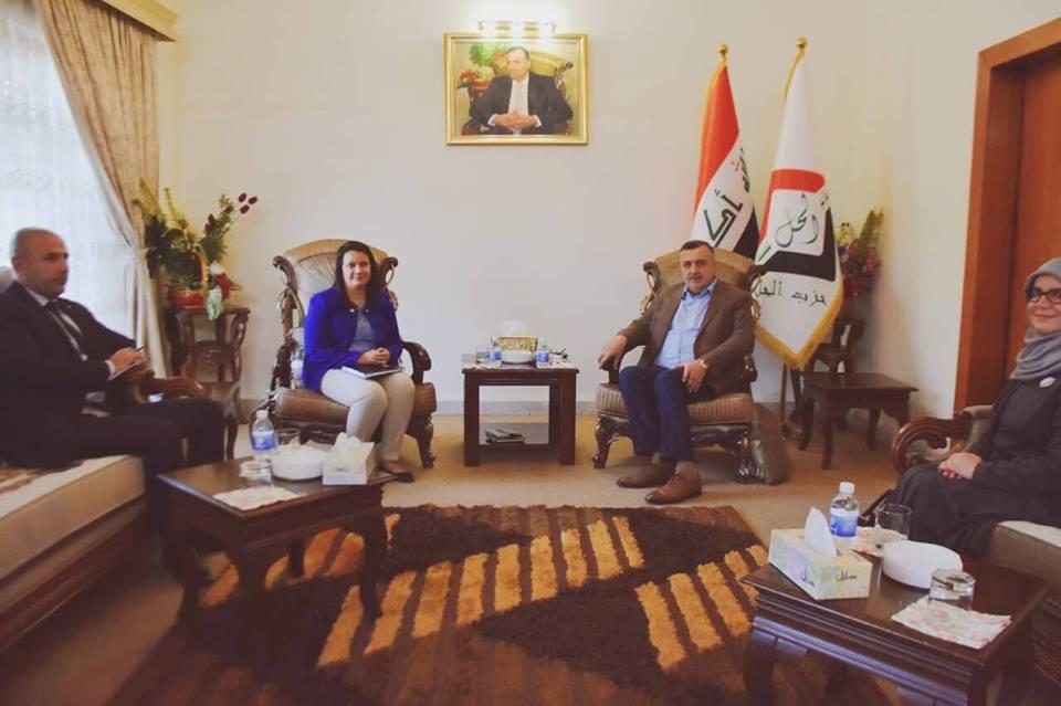 رئيس تحالف القوى العراقية يلتقي وفد السفارة الكندية المعتمدين في بغداد