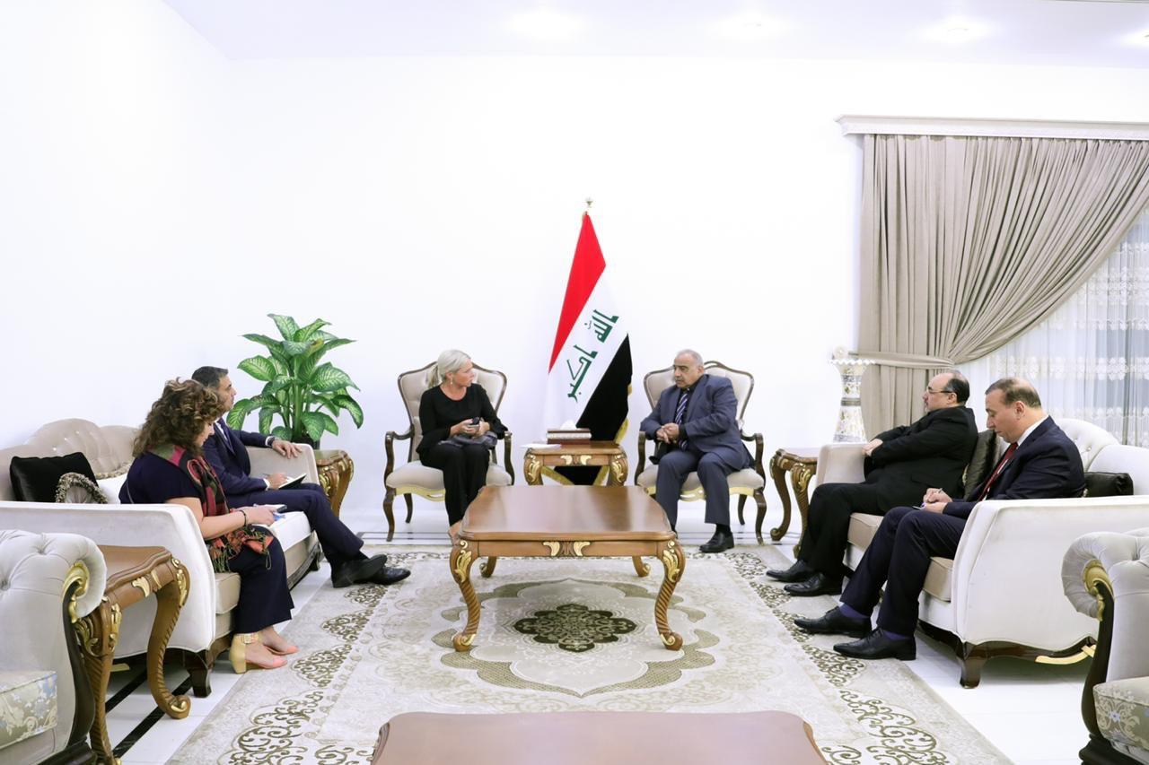 عبدالمهدي يستقبل الممثلة الخاصة للأمين العام للأمم المتحدة في العراق