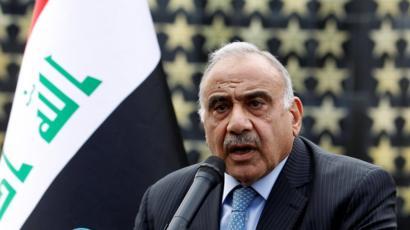 عبد المهدي يحذر من مغبة القيام باعمال حربية مضادة مدانة وغير مرخص بها