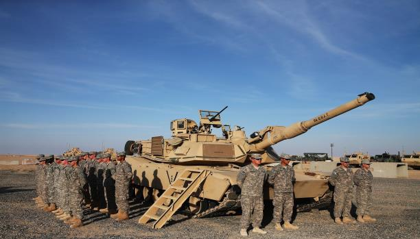 The arrival of the strength of the US Marines armored composed of 300 soldiers to the Baghdadi base