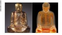 تمثال لبوذا يخبيء داخله مومياء محنطة