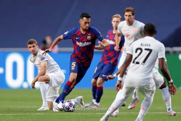 خروج مذل لبرشلونة من دوري الابطال بعد خسارته بالثمانية امام البايرن