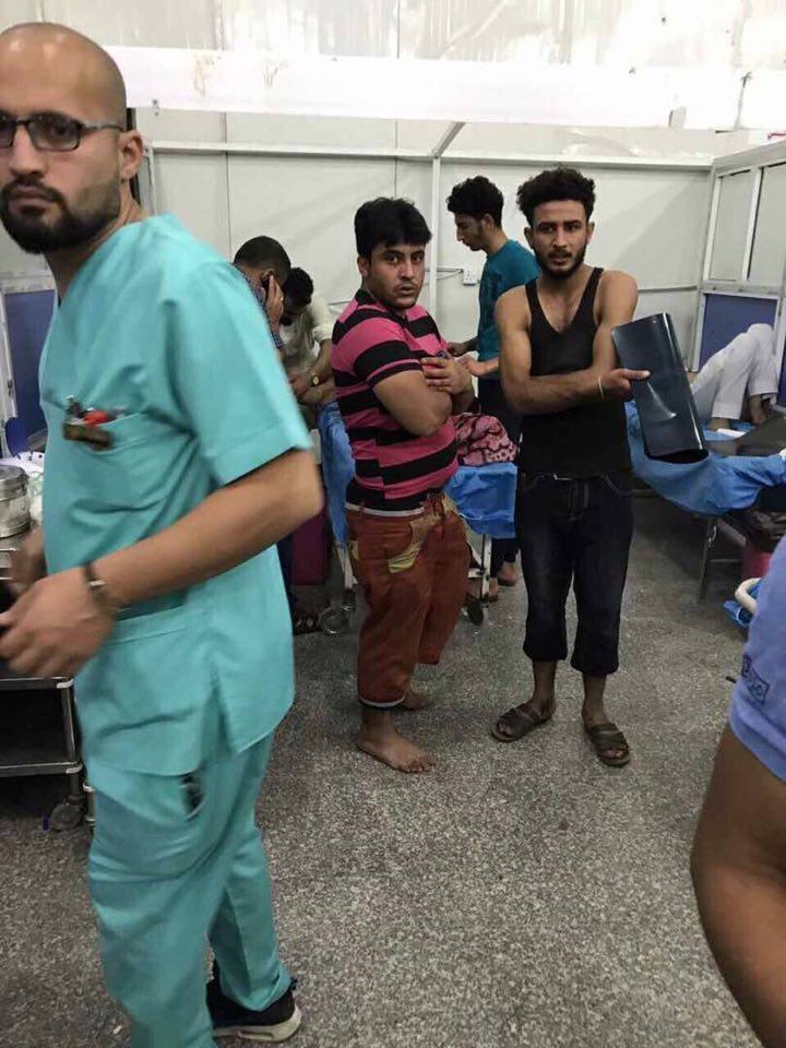 (بالصور) مقتل شخصين وإصابة خمسة مدنيين ومنتسب في الشرطة في الهجوم الانتحاري على الرمادي
