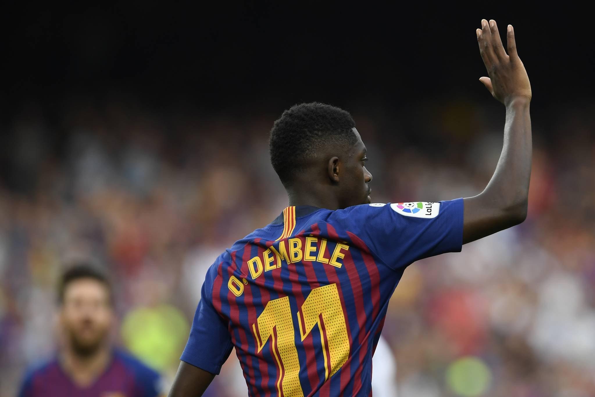برشلونة يطعن على عقوبة ديمبلي