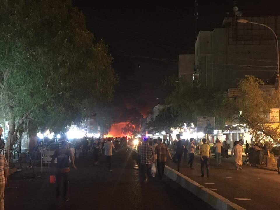 """""""بالفيديو"""" لحظات التفجيرات الارهابية في الكرادة ضد المدنيين"""
