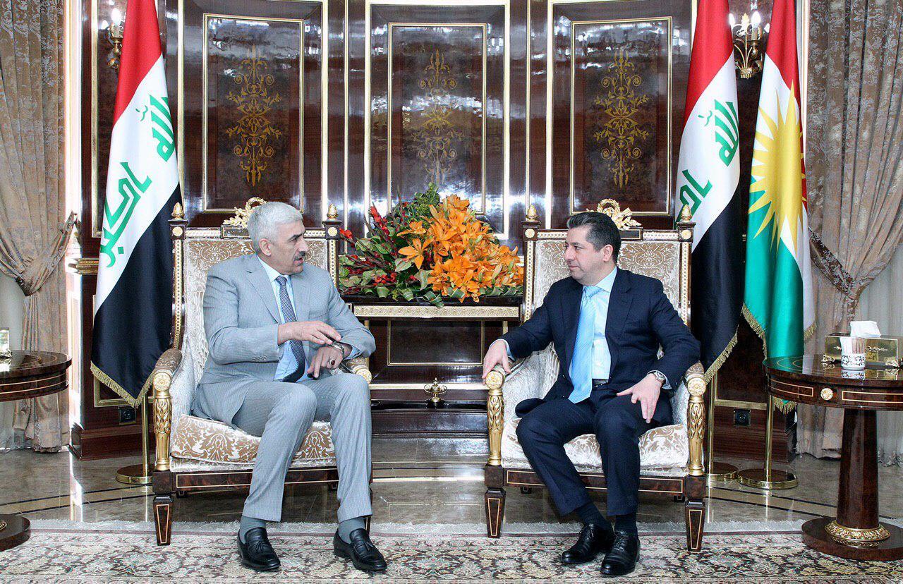 البارزاني يؤكد لوزير الشباب حرص كردستان على المشاركة في المحافل الرياضية العراقية والدولية