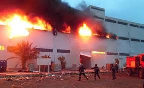 اندلاع حريق بالقرب من مستشفى ابن رشد وسط العاصمة بغداد
