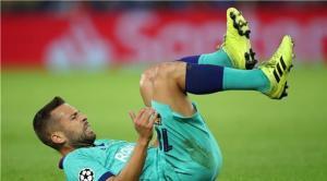 برشلونة يكشف التشخيص النهائي لإصابة ألبا